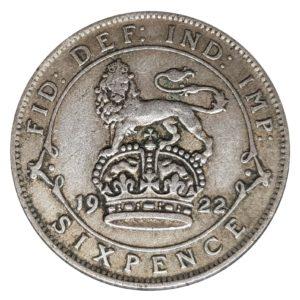 1922 Sixpence – King George V