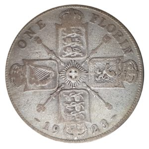 1923 Two Shillings, King George V, Coin