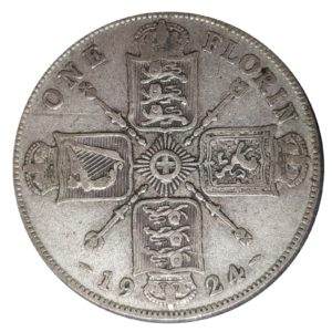 1924 Two Shillings, King George V, Coin