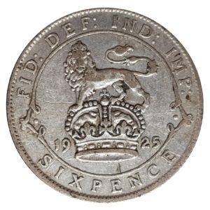 1925 Sixpence - King George V