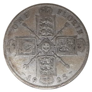1925 Two Shillings, King George V, Coin
