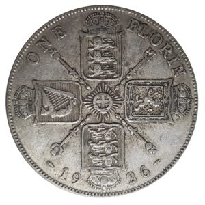 1926 Two Shillings, King George V, Coin