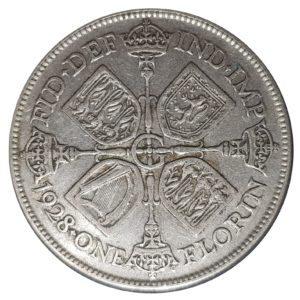 1928 Two Shillings, King George V, Coin
