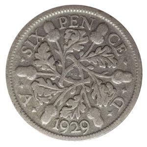 1929 Sixpence