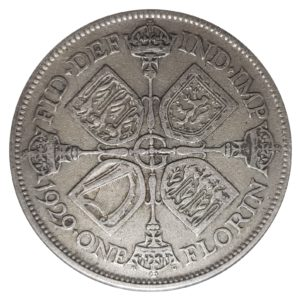 1929 Two Shillings, King George V, Coin