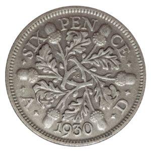 1930 Sixpence - King George V