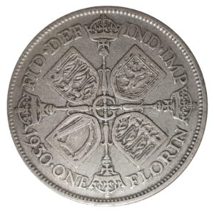1930 Two Shillings, King George V, Coin