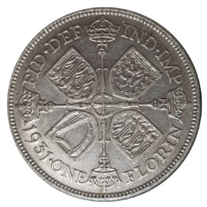 1931 Two Shillings, King George V, Coin