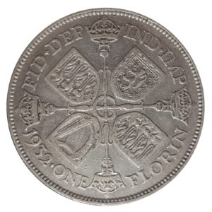 1932 Two Shillings, King George V, Coin