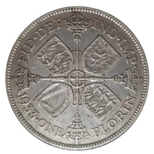1933 Two Shillings, King George V, Coin