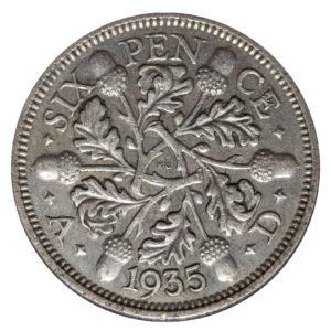 1935 Sixpence - King George V