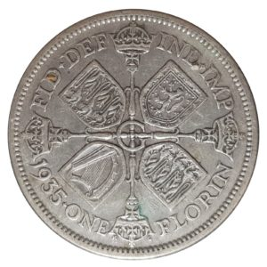 1935 Two Shillings, King George V, Coin