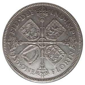 1936 Two Shillings, King George V, Coin