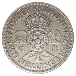 1937 Two Shillings, King George VI