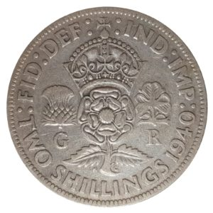 1940 Two Shillings, King George VI, Coin