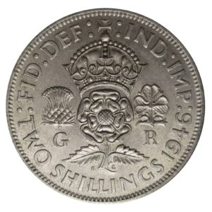 1946 Two Shillings, King George VI, Coin