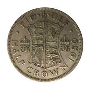 1950 King George VI Half Crown