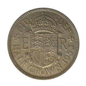 1953 Queen Elizabeth II Half Crown