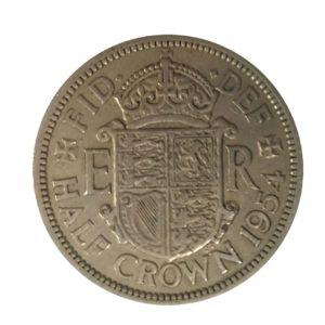 1954 Queen Elizabeth II Half Crown