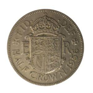 1956 Queen Elizabeth II Half Crown