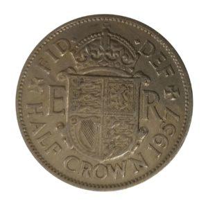 1957 Queen Elizabeth II Half Crown