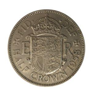 1958 Queen Elizabeth II Half Crown