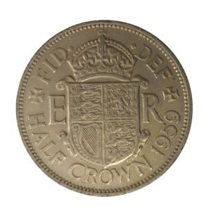 1959 Queen Elizabeth II Half Crown