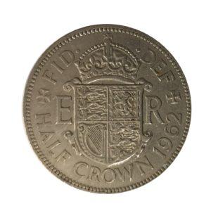 1962 Queen Elizabeth II Half Crown