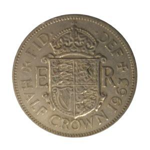 1963 Queen Elizabeth II Half Crown