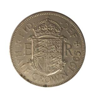 1965 Queen Elizabeth II Half Crown