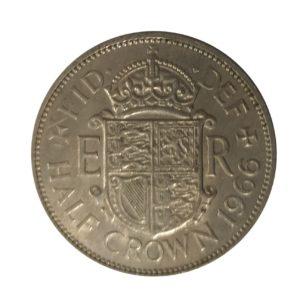 1966 Queen Elizabeth II Half Crown