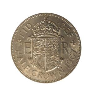 1967 Queen Elizabeth II Half Crown