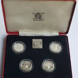 1989 - 1992 United Kingdom Silver Proof £1 Coin Set