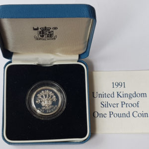 1991 United Kingdom Silver Proof £1 Coin
