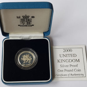 2000 United Kingdom Silver Proof £1 Coin