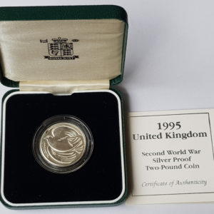 "1995 United Kingdom ""Second World War"" Silver Proof £2 Coin"