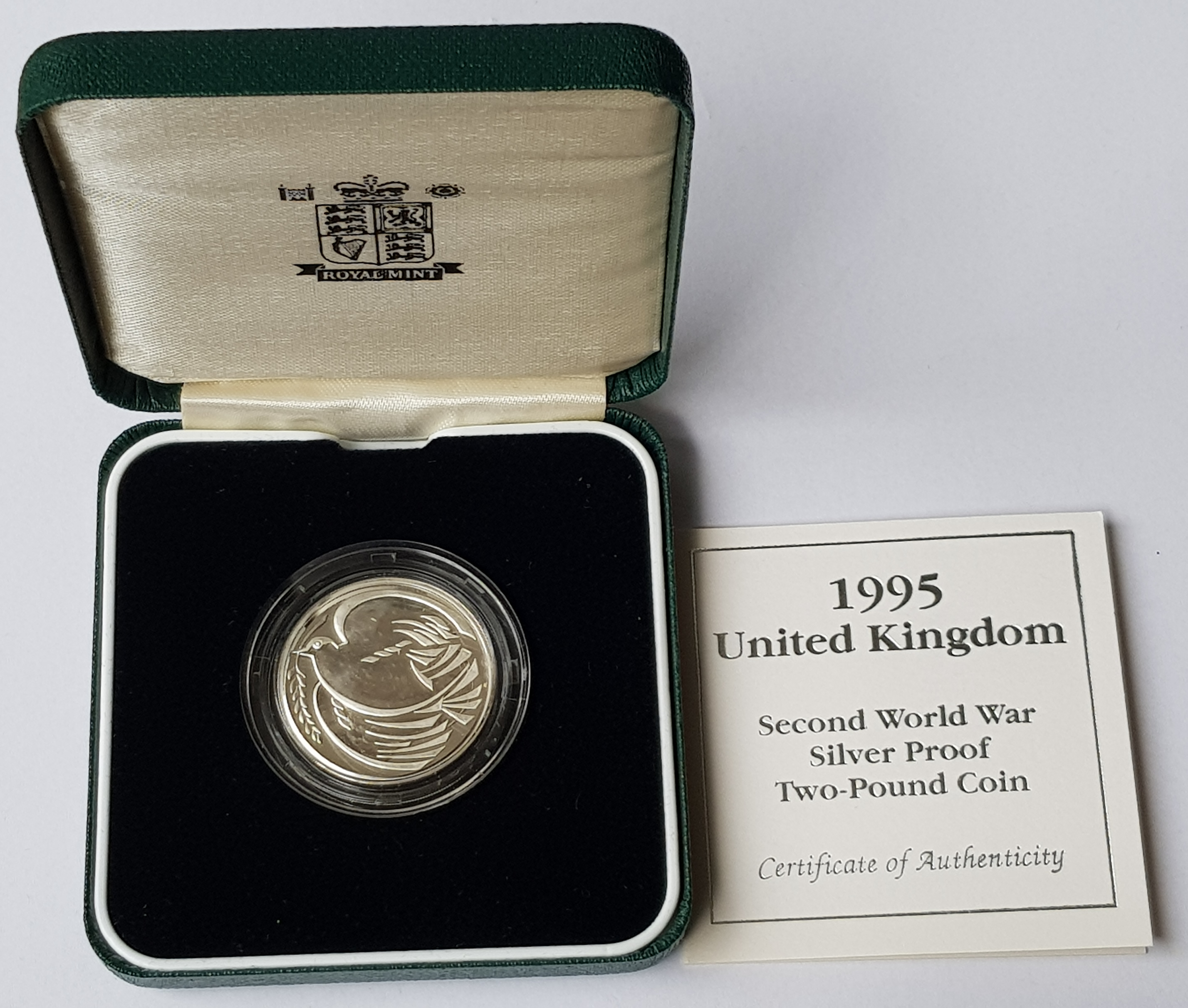 1995 United Kingdom Second World War Silver Proof 2 Coin