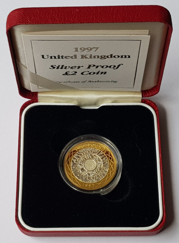 1997 United Kingdom Silver Proof £2 Coin