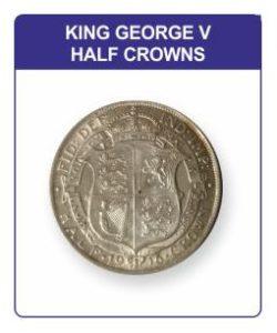 King George V Half Crowns