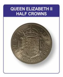 Queen Elizabeth II Half Crown