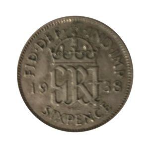 1938 Sixpence - King George VI