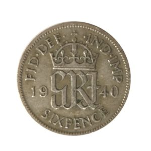 1940 Sixpence - King George VI