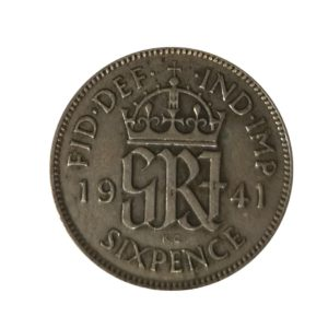 1941 Sixpence - King George VI
