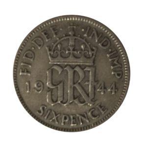 1944 Sixpence - King George VI
