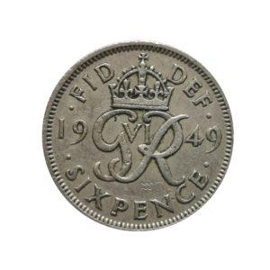1949 Sixpence