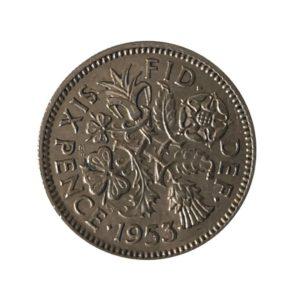 1953 Sixpence – Queen Elizabeth II