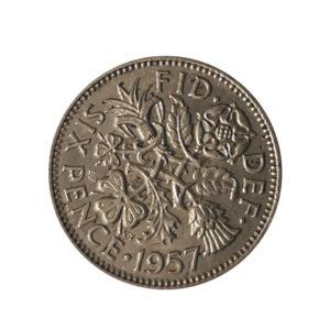 1957 Sixpence – Queen Elizabeth II