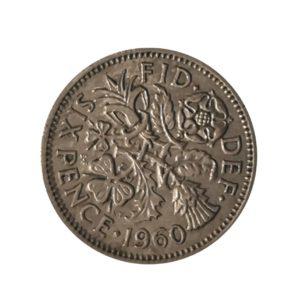 1960 Sixpence – Queen Elizabeth II