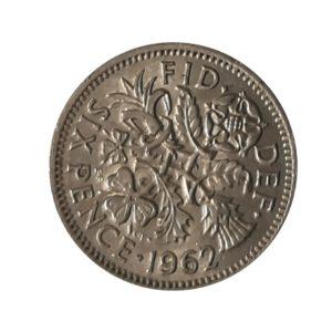 1962 Sixpence – Queen Elizabeth II