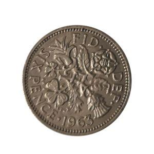 1963 Sixpence – Queen Elizabeth II